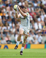 Luke Cowan-Dickie of Exeter Chiefs claims the ball in the air. Aviva Premiership Final, between Wasps and Exeter Chiefs on May 27, 2017 at Twickenham Stadium in London, England. Photo by: Patrick Khachfe / JMP