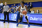 17 November 2016: Duke's Kyra Lambert. The Duke University Blue Devils hosted the Grand Canyon University Antelopes at Cameron Indoor Stadium in Durham, North Carolina in a 2016-17 NCAA Division I Women's Basketball game. Duke won the game 90-47.