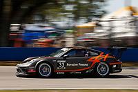 2017 Porsche GT3 Cup USA<br /> Sebring International Raceway, Sebring, FL USA<br /> Friday 17 March 2017<br /> 33, CJ Wilson, GT3P, USA, 2017 Porsche 991<br /> World Copyright: Jake Galstad/LAT Images<br /> ref: Digital Image lat-galstad-SIR-0317-14693