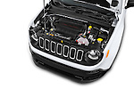 Car Stock2015 JEEP Renegade Sport 5 Door Suv Engine high angle detail view