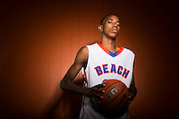 """Sept. 10, 2013: Shaqquan Aaron, 18, will play for the University of Louisville after graduating from Rainier Beach High School in Seattle. """"I've seen my work pay off,"""" said Aaron, a six-foot-seven small forward. """"It's a blessing to get some notoriety, it's a blessing to get to play — not everyone gets the chance to play for a championship team and a hall of fame coach."""" Photo by Daniel Berman for SLAM."""