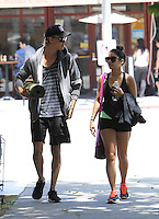 Vanessa Hudgens and boyfriend Austin Butler seen leaving yoga class together. Los Angeles, California on 17.05.2012..Credit: Correa/face to face.. /MediaPunch Inc. ***FOR USA ONLY***