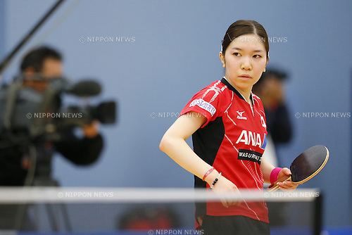 Misako Wakamiya (JPN), APRIL 22, 2015 - Table Tennis : Japan national team training session for 2015 World Table Tennis Championships in Tokyo at Ajinomoto National Training Center, Tokyo, Japan. (Photo by Yusuke NakanishiAFLO SPORT)