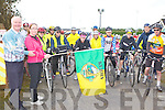 Martina O'Donoghue and Donal Nelligan from the Castleisland Day Care centre start the Castleisland fun Cycle race on Sunday ..