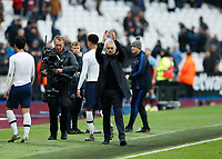 23rd November 2019; London Stadium, London, England; English Premier League Football, West Ham United versus Tottenham Hotspur; Tottenham Hotspur Manager Jose Mourinho applauding the Tottenham Hotspur fans after full time - Strictly Editorial Use Only. No use with unauthorized audio, video, data, fixture lists, club/league logos or 'live' services. Online in-match use limited to 120 images, no video emulation. No use in betting, games or single club/league/player publications