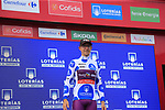Angel Madrazo Ruiz (Spa) Burgos-BH retains the mountains Polka Dot Jersey at the end of Stage 3 of La Vuelta 2019 running 188km from Ibi. Ciudad del Juguete to Alicante, Spain. 26th August 2019.<br /> Picture: Ann Clarke | Cyclefile<br /> <br /> All photos usage must carry mandatory copyright credit (© Cyclefile | Ann Clarke)