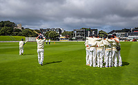 Play gets underway on day one of the Plunket Shield cricket match between the Wellington Firebirds and Otago Volts at Basin Reserve in Wellington, New Zealand on Monday, 21 October 2019. Photo: Dave Lintott / lintottphoto.co.nz