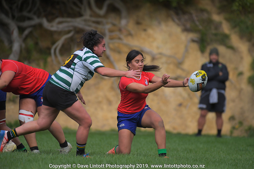 Action from the Wellington premier club rugby Rebecca Liua'ana Trophy match between Old Boys University and Marist St Pat's at Prince Of Wales Park in Wellington, New Zealand on Saturday, 27 April 2019. Photo: Dave Lintott / lintottphoto.co.nz