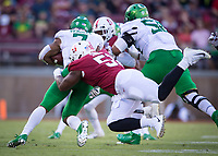 Stanford, CA - September 21, 2019: Jovan Swann at Stanford Stadium. The Stanford Cardinal fell to the Oregon Ducks 21-6.
