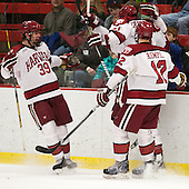Brian Hart (Harvard - 39), Marshall Everson (Harvard - 21), Kyle Criscuolo (Harvard - 11), Brendan Rempel (Harvard - 12) - The Harvard University Crimson defeated the Colgate University Raiders 4-1 (EN) on Friday, February 15, 2013, at the Bright Hockey Center in Cambridge, Massachusetts.