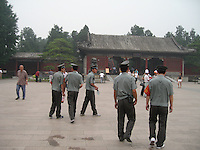 Young Standards Police patrol the Summer Palace to keep the area clean