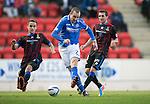 St Johnstone v Inverness Caledonian Thistle...05.10.13      SPFL<br /> Dave Mackay scores to make it 2-0<br /> Picture by Graeme Hart.<br /> Copyright Perthshire Picture Agency<br /> Tel: 01738 623350  Mobile: 07990 594431
