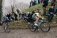 charging up the infamous Kapelmuur<br /> <br /> 74th Omloop Het Nieuwsblad 2019 <br /> Gent to Ninove (BEL): 200km<br /> <br /> ©kramon