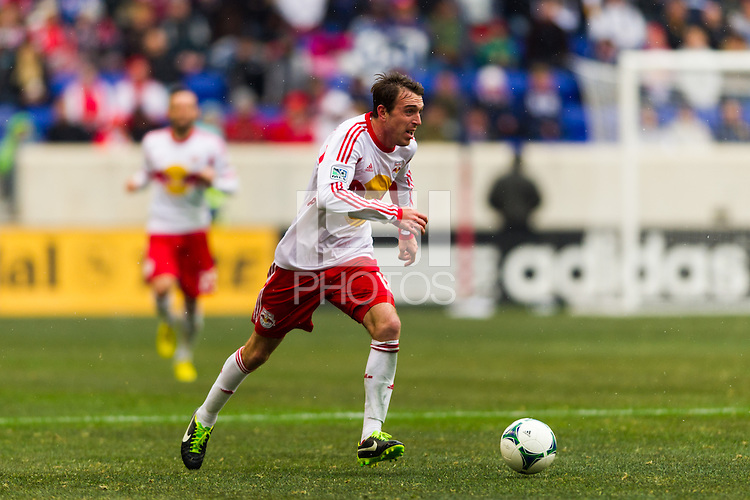 Eric Alexander (12) of the New York Red Bulls. The New York Red Bulls and D. C. United played to a 0-0 tie during a Major League Soccer (MLS) match at Red Bull Arena in Harrison, NJ, on March 16, 2013.