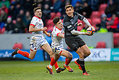 3rd February 2019, AJ Bell Stadium, Salford, England; Premiership Rugby Cup, Sale Sharks versus Newcastle Falcons; Toby Flood of Newcastle Falcons passes the ball
