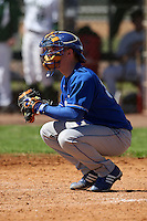 February 26, 2010:  Catcher Dave Phelan of the Seton Hall Pirates during the Big East/Big 10 Challenge at Raymond Naimoli Complex in St. Petersburg, FL.  Photo By Mike Janes/Four Seam Images