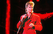 David Bowie - performing live on the Glass Spider Tour at the Pontiac Silverdome in Michigan USA - 12 Sep 1987.  Photo credit: Ken Settle/Dalle/IconicPix **UK ONLY**
