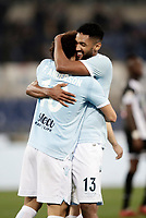 Calcio, Serie A: Lazio - Udinese, Roma, stadio Olimpico, 24 gennaio 2018.<br /> Lazio's Felipe Anderson (l) celebrates after scoring with his teammate Fortuna Wallace (r) during the Italian Serie A football match between Lazio and Udinese at Rome's Olympic stadium, January 24, 2018.<br /> UPDATE IMAGES PRESS/Isabella Bonotto