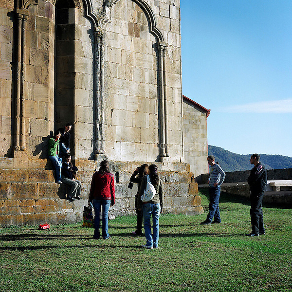 Young pilgrims are coming regularly to visit and pray at the Monastory of Gandzassar. Built between 1216 and 1218, this religious place has been for many centuries the cultural and spitirutal center of the province of Karabagh.