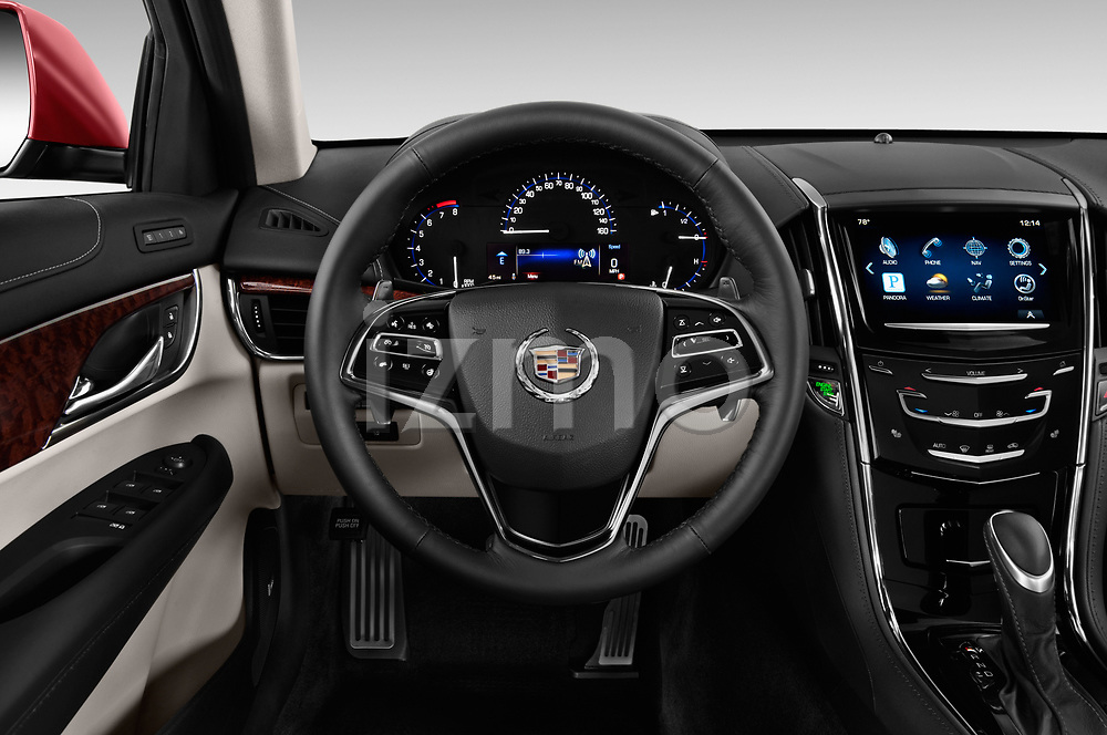 Car pictures of steering wheel view of a 2015 Cadillac ATS 2.5L Standard RWD 4 Door Sedan Steering Wheel