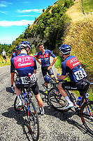 Ian Bibby with his JLT Condor teammates after Stage Four of the 2018 NZ Cycle Classic UCI Oceania Tour (Masterton to Admiral's Hill) in Wairarapa, New Zealand on Saturday, 20 January 2018. Photo: Dave Lintott / lintottphoto.co.nz