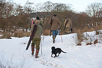 Shooting in snow, Lancashire.