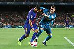 Supercopa de Espa&ntilde;a - Ida.<br /> FC Barcelona vs R. Madrid: 1-3.<br /> Luis Suarez vs Sergio Ramos.