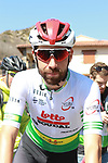 Race leader Thomas De Dendt (BEL) Lotto-Soudal before the start of Stage 4 of the Volta Ciclista a Catalunya 2019 running 150.3km from Llanars (Vall De Camprodon) to La Molina (Alp), Spain. 28th March 2019.<br /> Picture: Colin Flockton | Cyclefile<br /> <br /> <br /> All photos usage must carry mandatory copyright credit (© Cyclefile | Colin Flockton)