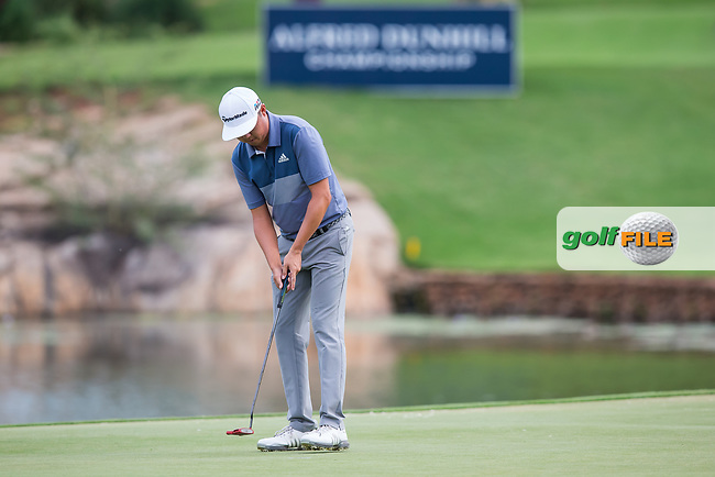 David Lipsky (USA) on the 18th during the final round of the Alfred Dunhill Championship, Leopard Creek Golf Club, Malelane, South Africa. 16/12/2018<br /> Picture: Golffile | Tyrone Winfield<br /> <br /> <br /> All photo usage must carry mandatory copyright credit (© Golffile | Tyrone Winfield)