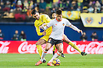 Joao Cancelo (r) of Valencia CF battles for the ball with Víctor Ruiz Torre of Villarreal CF during their La Liga match between Villarreal CF and Valencia CF at the Estadio de la Cerámica on 21 January 2017 in Villarreal, Spain. Photo by Maria Jose Segovia Carmona / Power Sport Images