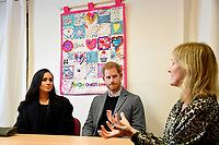 Prince Harry Duke of Sussex and Meghan Markle Duchess of Sussex visit One25