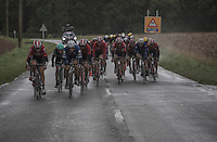 With strong winds from the start, it doesn't take long before echelons start forming: <br /> the 1st break in the peloton (that would never thereafter re-group) was made after only 20 km's of racing and left the major part of the riders out of the race... <br /> <br /> Tour de l'Eurom&eacute;tropole 2016 (1.1)<br /> Poperinge &rsaquo; Tournai (196km)/ Belgium