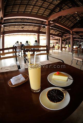 "Asia, Vietnam, Nha Trang. A lemon tarte served in the ""Lousiana Brewery"" bar at Nha Trang's beach promenade."