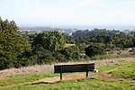 Bench with view of Santa Cruz at UCSC