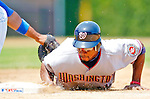 3 July 2005: Junior Spivey, second baseman for the Washington Nationals, dives safely back to first in a game against the Chicago Cubs. The Nationals defeated the Cubs 5-4 in 12 innings to sweep the 3-game series at Wrigley Field in Chicago, IL. Mandatory Photo Credit: Ed Wolfstein