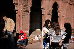 Students hang out between classes at the liberal fine arts Lahore College of Arts