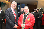County Board Chairman, Padraic O'Connor with Mayor Paul Bell at the Civic Reception for Louth GAA Team in the dHotel.....Picture Jenny Matthews/Newsfile.ie