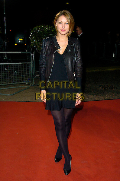 "EMMA GRIFFITHS.Celebrity Guests attend ""Another Audience with Al Murray - Pub Landlord"" at London ITV Studios, South Bank, London, England, October 21st 2007. .full length  black leather jacket shorts tights .CAP/CAN.©Can Nguyen/Capital Pictures"