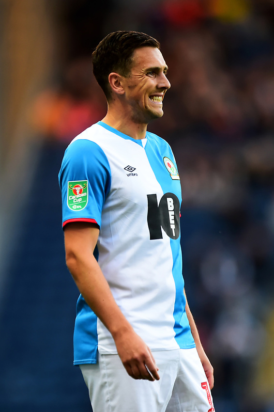 Blackburn Rovers' Stewart Downing reacts<br /> <br /> Photographer Richard Martin-Roberts/CameraSport<br /> <br /> The Carabao Cup First Round - Tuesday 13th August 2019 - Blackburn Rovers v Oldham Athletic - Ewood Park - Blackburn<br />  <br /> World Copyright © 2019 CameraSport. All rights reserved. 43 Linden Ave. Countesthorpe. Leicester. England. LE8 5PG - Tel: +44 (0) 116 277 4147 - admin@camerasport.com - www.camerasport.com