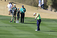 Emiliano Grillo (ARG) plays his 2nd shot on the 8th hole during Saturday's Round 3 of the Waste Management Phoenix Open 2018 held on the TPC Scottsdale Stadium Course, Scottsdale, Arizona, USA. 3rd February 2018.<br /> Picture: Eoin Clarke | Golffile<br /> <br /> <br /> All photos usage must carry mandatory copyright credit (&copy; Golffile | Eoin Clarke)