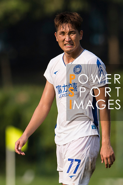 Rui Li of R&F F.C reacts during the week three Premier League match between Kwoon Chung Southern and R&F at Aberdeen Sports Ground on September 16, 2017 in Hong Kong, China. Photo by Marcio Rodrigo Machado / Power Sport Images