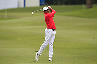 Julian Suri (USA) on the 1st fairway during Round 3 of the UBS Hong Kong Open, at Hong Kong golf club, Fanling, Hong Kong. 25/11/2017<br /> Picture: Golffile | Thos Caffrey<br /> <br /> <br /> All photo usage must carry mandatory copyright credit     (&copy; Golffile | Thos Caffrey)