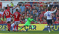 Nottingham Forest's Albert Adomah scores his side's first goal to make it 1-1<br /> <br /> Photographer David Shipman/CameraSport<br /> <br /> The EFL Sky Bet Championship - Nottingham Forest v Preston North End - Saturday 31st August 2019 - The City Ground - Nottingham<br /> <br /> World Copyright © 2019 CameraSport. All rights reserved. 43 Linden Ave. Countesthorpe. Leicester. England. LE8 5PG - Tel: +44 (0) 116 277 4147 - admin@camerasport.com - www.camerasport.com