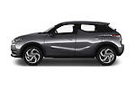 Car driver side profile view of a 2019 DS DS 3 Crossback Grand Chic 5 Door SUV