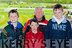 Daniel, Denis and Damian Moynihan with Alan Reen Rathmore at the Killarney Races on Sunday