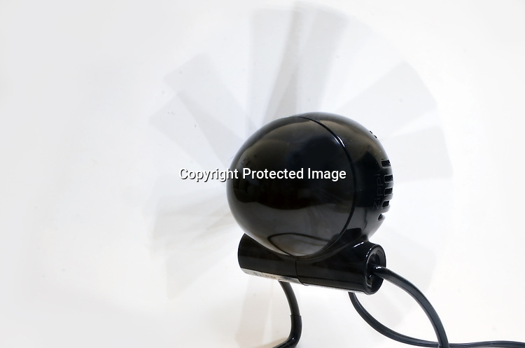 Stock photo of an electric fan