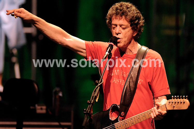 **ALL ROUND PICTURES FROM SOLARPIX.COM**.**SYNDICATION RIGHTS FOR UK AND SPAIN ONLY**.Lou Reed during his concert in the philharmonic building in Munich on the 35th anniversary of his legendary record 'Berlin'. The rock musician is touring through Europe. 3rd July 2008..JOB REF: 6772 CPR/Philipp Guelland        .DATE: 03_07_2008.**MUST CREDIT SOLARPIX.COM OR DOUBLE FEE WILL BE CHARGED* *UNDER NO CIRCUMSTANCES IS THIS IMAGE TO BE REPRODUCED FOR ANY ONLINE EDITION WITHOUT PRIOR PERMISSION*