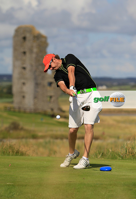 Ross Kenny (Naas) on the 13th tee during the South of Ireland Amateur Open Championship 4th Round at Lahinch Golf Club  29th July 2013 <br /> Picture:  Thos Caffrey / www.golffile.ie