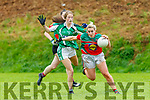 Debbis Murphy Kilcummin goes past Niamh Broderick Milltown/Listry in the CCF Junior A final in Killarney on Sunday
