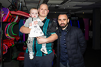 Pictured: Leon Britton during the Swansea player and fans bowling evening at Tenpin Swansea, Swansea, Wales, UK. Wednesday 22 January 2020